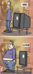 Evolutia omului si televizorului