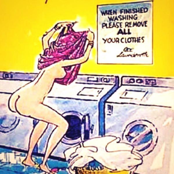Cand terminati de spalat scoteti-va toate hainele...